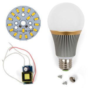 LED Light Bulb DIY Kit SQ-Q23 9 W (warm white, E27)