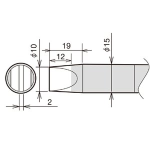 Soldering Iron Tip Goot RX-89HRT-10D