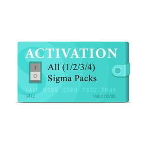 Sigma Pack 1 + Pack 2 + Pack 3  + Pack 4 Activation