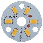 Placa PCB con diodos LED de 3 W (luz blanca tíbia, 350 lm, 32 mm)