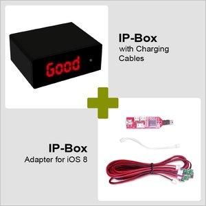 IP-Box с кабелями зарядки и адаптером для iOS8