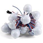 Комплект LED-модулей (WS2811, 3 светодиода SMD5050, 30 мм, IP67, 20 шт.)