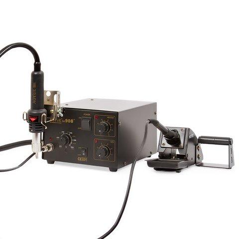 Термоповітряна паяльна станція AOYUE 908+ з паяльником і тримачем термофена