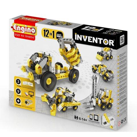 Будівельна техніка 12 в 1 STEAM-конструктор Engino Inventor