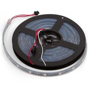 Tira de luces LED RGB SMD5050, WS2811 (con controles, color negro, IP67, 12 V, 30 diodos LED/m, 5 m)